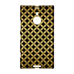 Circles3 Black Marble & Gold Brushed Metal Nokia Lumia 1520 Hardshell Case