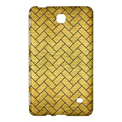 Brick2 Black Marble & Gold Brushed Metal (r) Samsung Galaxy Tab 4 (7 ) Hardshell Case