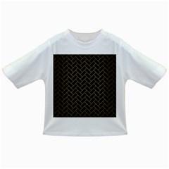 Brick2 Black Marble & Gold Brushed Metal Infant/toddler T Shirt
