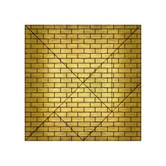 Brick1 Black Marble & Gold Brushed Metal (r) Acrylic Tangram Puzzle (4  X 4 )