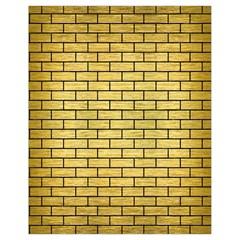 Brick1 Black Marble & Gold Brushed Metal (r) Drawstring Bag (small)