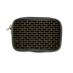 Brick1 Black Marble & Gold Brushed Metal Coin Purse