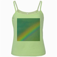Colorful Natural Rainbow Green Spaghetti Tank