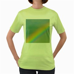 Colorful Natural Rainbow Women s Green T Shirt