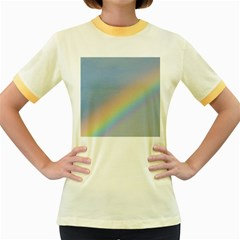 Colorful Natural Rainbow Women s Fitted Ringer T Shirts