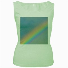 Colorful Natural Rainbow Women s Green Tank Top