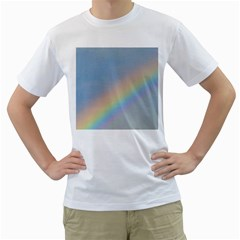 Colorful Natural Rainbow Men s T-Shirt (White) (Two Sided)