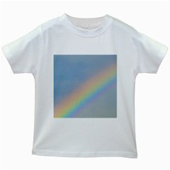 Colorful Natural Rainbow Kids White T Shirts