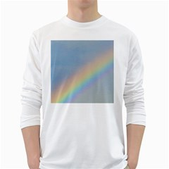 Colorful Natural Rainbow White Long Sleeve T Shirts