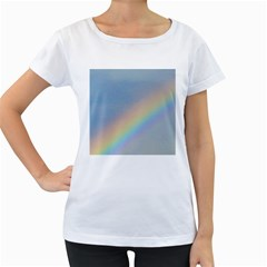 Colorful Natural Rainbow Women s Loose Fit T Shirt (white)