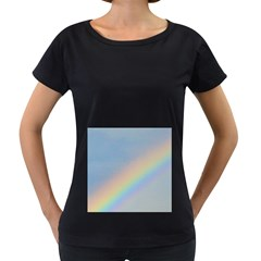 Colorful Natural Rainbow Women s Loose Fit T Shirt (black)
