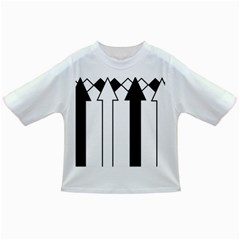 Funny Black And White Stripes Diamonds Arrows Infant/toddler T Shirts