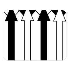 Funny Black And White Stripes Diamonds Arrows Double Sided Flano Blanket (large)