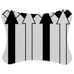 Funny Black and White Stripes Diamonds Arrows Jigsaw Puzzle Photo Stand (Bow)