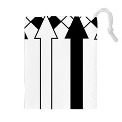 Funny Black And White Stripes Diamonds Arrows Drawstring Pouches (extra Large)