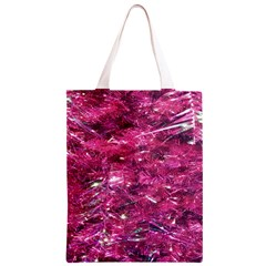 Festive Hot Pink Glitter Merry Christmas Tree  Classic Light Tote Bag