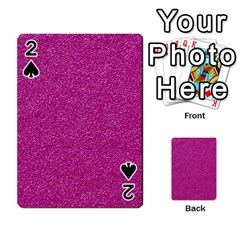 Metallic Pink Glitter Texture Playing Cards 54 Designs