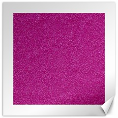 Metallic Pink Glitter Texture Canvas 16  x 16