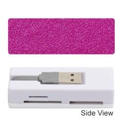 Metallic Pink Glitter Texture Memory Card Reader (Stick)