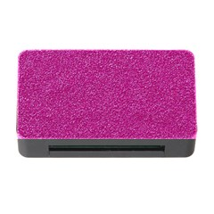 Metallic Pink Glitter Texture Memory Card Reader with CF