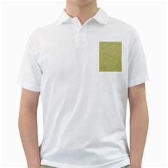 Festive White Gold Glitter Texture Golf Shirts