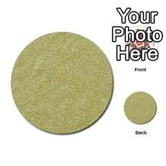 Festive White Gold Glitter Texture Multi Purpose Cards (round)