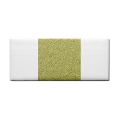 Festive White Gold Glitter Texture Hand Towel