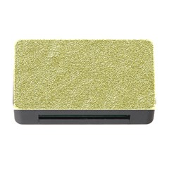 Festive White Gold Glitter Texture Memory Card Reader with CF