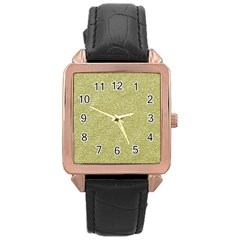 Festive White Gold Glitter Texture Rose Gold Leather Watch