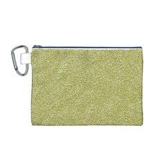Festive White Gold Glitter Texture Canvas Cosmetic Bag (M)