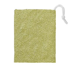 Festive White Gold Glitter Texture Drawstring Pouches (extra Large)