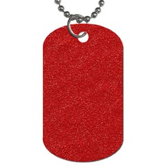 Festive Red Glitter Texture Dog Tag (Two Sides)