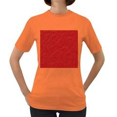 Festive Red Glitter Texture Women s Dark T-Shirt