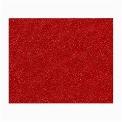 Festive Red Glitter Texture Small Glasses Cloth