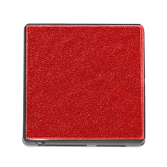 Festive Red Glitter Texture Memory Card Reader (Square)