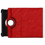 Festive Red Glitter Texture Kindle Fire HD Flip 360 Case Front