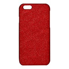 Festive Red Glitter Texture iPhone 6/6S TPU Case