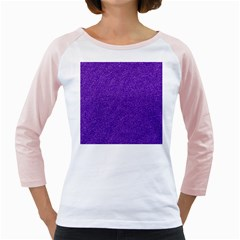 Festive Purple Glitter Texture Girly Raglans