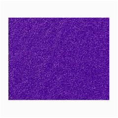 Festive Purple Glitter Texture Small Glasses Cloth