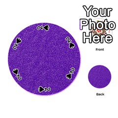 Festive Purple Glitter Texture Playing Cards 54 (round)