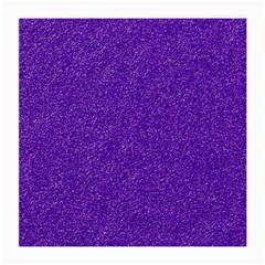 Festive Purple Glitter Texture Medium Glasses Cloth