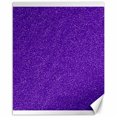 Festive Purple Glitter Texture Canvas 11  x 14