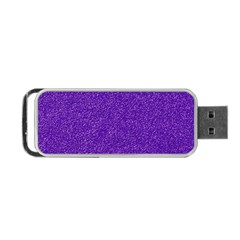 Festive Purple Glitter Texture Portable Usb Flash (two Sides)