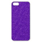 Festive Purple Glitter Texture Apple Seamless iPhone 5 Case (Clear) Front