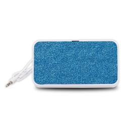Festive Blue Glitter Texture Portable Speaker (White)