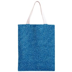 Festive Blue Glitter Texture Classic Light Tote Bag