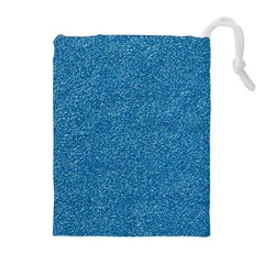 Festive Blue Glitter Texture Drawstring Pouches (Extra Large)