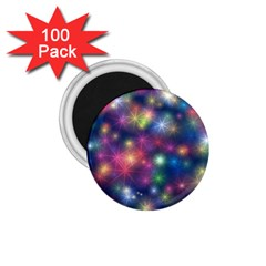Starlight Shiny Glitter Stars 1 75  Magnets (100 Pack)