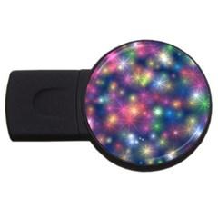 Starlight Shiny Glitter Stars USB Flash Drive Round (1 GB)