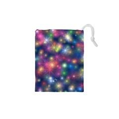 Starlight Shiny Glitter Stars Drawstring Pouches (XS)